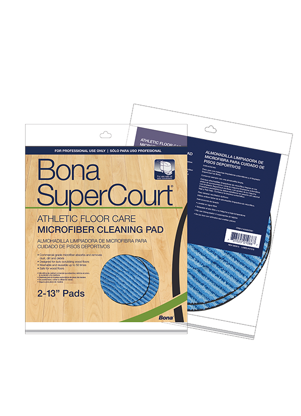 Bona SuperCourt™ Athletic Floor Care Microfiber Scrubbing Pads