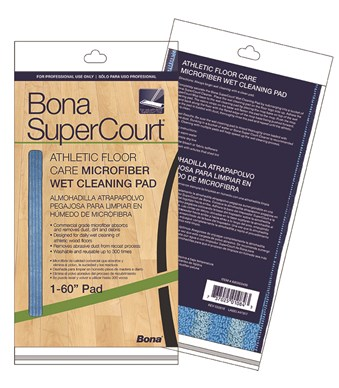 Bona SuperCourt™ Athletic Floor Care Microfiber Wet Cleaning Pads